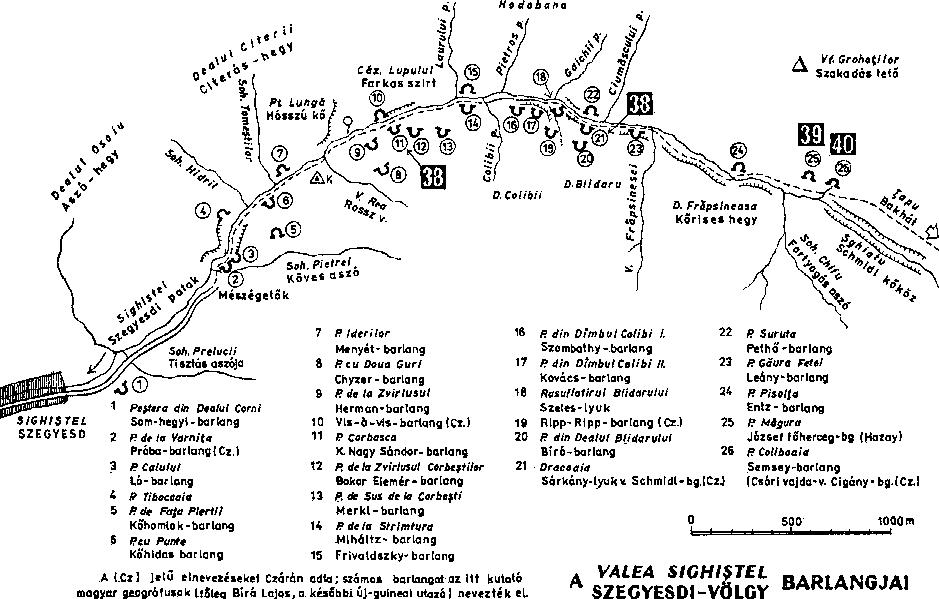 Szedgyesd-völgye térkép